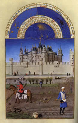 October from A Book of Hours as seen in Peter Watt's Study - click for full size.