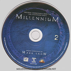 The second disc features a distinctive blue and black design, again featuring the Millennium's Ouroborus. ©2008 Twentieth Century Fox Film Corporation.