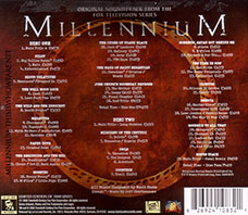 The rear of 2 disc set contains the full tracks listing of both discs. ©2008 Twentieth Century Fox Film Corporation.