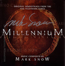 A signed copy of the Millennium Limited Edition Original Soundtrack by composer Mark Snow. ©2008 Twentieth Century Fox Film Corporation.