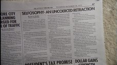 Newspaper retraction from Millennium's Jose Chung's 'Doomsday Defense' - click for full size.