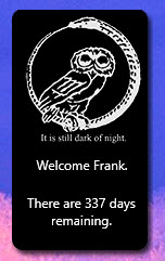 The Owl Ouroborus Countdown available in our Millennium Gadget Pack.
