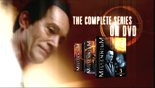 An advert for Millennium in the Harsh Realm DVD packaging.