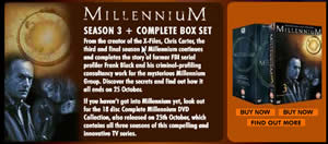Clipping from Fox newsletter about Millennium Season 3.