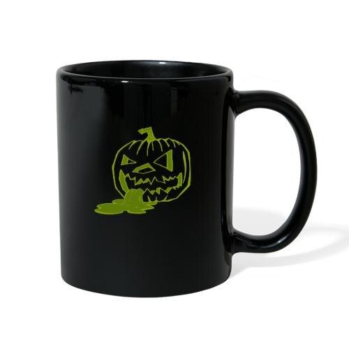 M-TIWWA.net Halloween Green Outline Pumpkin Wax Mug
